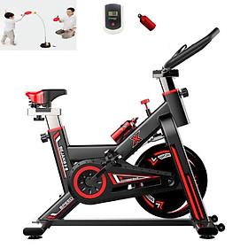 Xe đạp thể dục thể thao - xe đạp tập thể dục thể thao tại nhà X-SPEED tặng bóng bàn luyện phản xạ cao cấp + đồng hồ đo chỉ số + bình nước thể thao