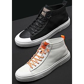 Giày Sneaker, giày thể thao big size cỡ lớn cho nam cao to làm bằng da bò cao cấp - SK078