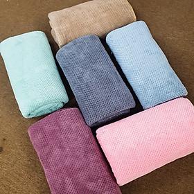 Khăn tắm cỡ lớn 70x140cm thấm hút nước cực tốt vải lông cừu mềm mịn bo viền chắc chắn - Hàng nhập khẩu