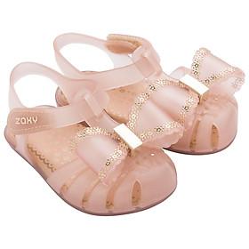 Giày Zaxy beigh Nơ Viền