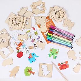 Đồ chơi khuôn tập vẽ cho bé và trò chơi ghép hình