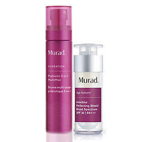 Set Murad Invisiblur Perfecting Shield Broad Spectrum SPF 30 PA +++ TẶNG Phun sương sinh học đa chức năng Murad Prebiotic 3-In-1 MultiMist