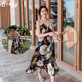 Đầm 2 dây floral Ahasing Sungg