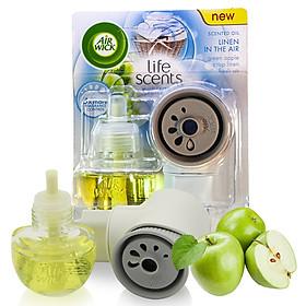 Bộ khuếch tán tinh dầu tự động Air Wick Linen In The Air 19ml QT04988 - hương táo xanh