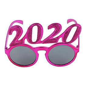 Creative 2020 New Year Eyeglasses Party Glasses Xmas glasses Frame Celebration Party Favor Supplies Glitter Party Accessories