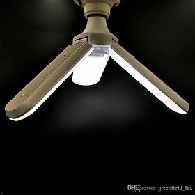 Đèn led quạt 3 cánh 45W ánh sáng 6500K tiết kiệm điện - có thể điều chỉnh góc độ cánh quạt.