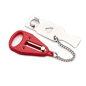 Khoá cửa không chìa, hỗ trợ an toàn cửa phòng khách sạn, phòng trọ, nhà nghỉ có đầu chặn chống trộm