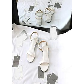 SD03007M1 – Sandal quai chữ T trắng