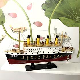 Mô hình tàu gỗ trang trí Tàu gỗ Titanic huyền thoại - Thân tàu dài 40cm - Gỗ Tự Nhiên 100%