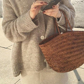 (Có sẵn)Áo khoác len nữ dáng rộng áo len mỏng khoác ngoài ulzzang