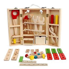 Đồ chơi gỗ - bộ dụng cụ sửa chữa - đồ chơi dành cho bé trai năng động giúp rèn luyện kỹ năng toàn diện