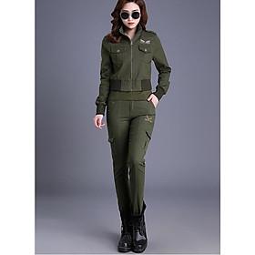 Sét quần và áo khoác kaki cao cấp TK118
