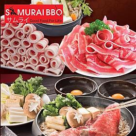 Samurai BBQ - Buffet Tối Lẩu Nướng BBQ Bò Mỹ, Hải Sản Và Sushi Phong Cách Nhật Bản