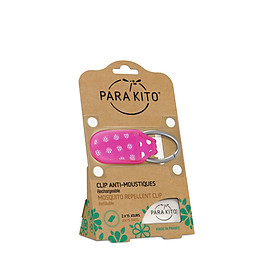 Viên chống muỗi PARA'KITO kèm móc cài họa tiết chấm  bi (loại 2 viên) -PCLIP06