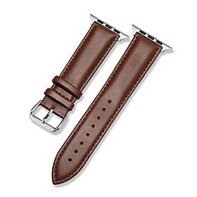 Dây Đeo Đồng Hồ Apple Watch Da Bò Cao Cấp Genuine Leather Watch YE-3842