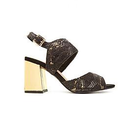 Giày Sandal Gót Vuông Phối Vàng Ánh Kim Sulily SGV1-I17DARAN