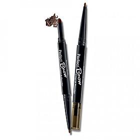 Chì Định Hình Mày 2 Đầu Silkygirl Perfect Brow Liner & Powder 01 Natural Brown