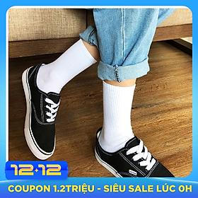 Bộ 5 đôi tất nam cổ cao chất cotton cao cổ trơn đơn giản TN34