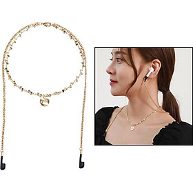 Fashion Anti-lost Headset Rope Cord Necklace Wireless Earphone String Lanyard