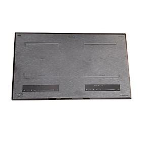 Bếp điện 02 từ CANAVAL CA-9989 Inverter Mặt kính Ceramic Viền vàng 4 cạnh -  Màu đen (4000W) - Hàng chính hãng
