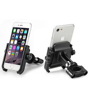 Giá đỡ điện thoại gắn gidong xe máy chất liệu hợp kim nhôm
