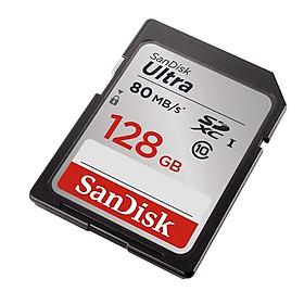 Thẻ nhớ SDXC SanDisk Ultra 533x 128GB Class 10 UHS-I 80MB/s (Xám) Hàng Chính Hãng