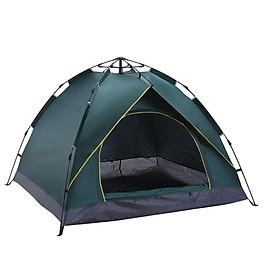 Lều Cắm Trại Tự Bung Chống Nước Dành Cho 4 Người Chống Thấm Nước, Chống Gió, Chống Tia UV, Kích thước 200x200x145cm