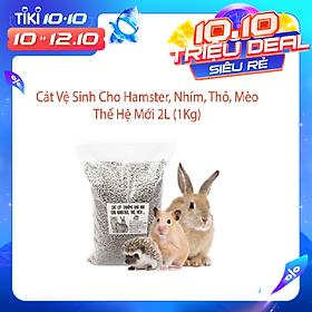 Cát Vệ Sinh Cho Hamster,Nhím,Thỏ,Mèo Thế Hệ Mới 2L (1Kg) - ( Mùi Ngẫu Nhiên )