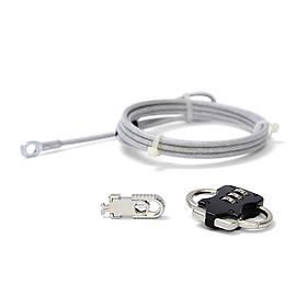 Dây khóa chống trộm Kensington UPG-HR-C929 cho Laptop, Màn hình, CPU (Màu bạc)