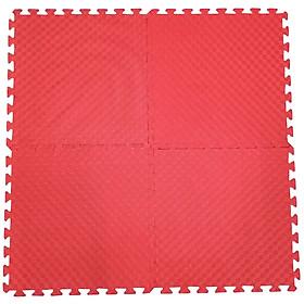 Bộ 4 Miếng Thảm Xốp Mềm Lót Sàn Màu đỏ 60x60cm/miếng