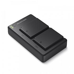 Bộ 2 Pin + Sạc Đôi RAVPower RP-BC029 Canon LP-E12 Cho Canon EOS M10, EOS M6, EOS M50, EOS M100, EOS M200, EOS 100D, EOS 200D, EOS 250D (Hàng Chính Hãng)