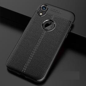Ốp lưng Silicon Auto Focus giả da, chống sốc dành cho iPhone X,iPhone XS, iPhone XR - Hàng Chính Hãng