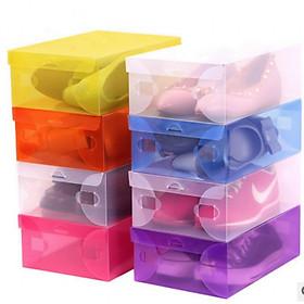 Bộ 10 hộp đựng giày trong suốt tiện dụng
