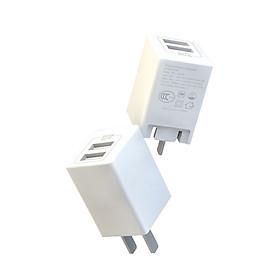 Củ sạc nhanh 2 cổng USB APPACS (Giao chuẩn chân cắm tròn)