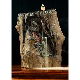 Tượng gỗ mỹ nghệ - Đạt Ma Khất Thực Gỗ Nu Trắc