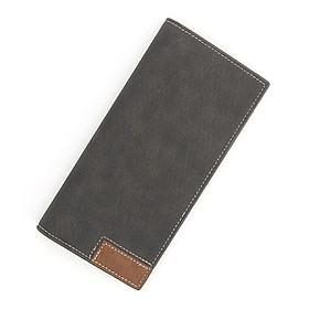 Bóp ví dài nam cầm tay da Pu cao cấp chống nước , ví cầm tay dáng đứng nhiều ngăn đựng thẻ có nút bấm, dễ vệ sinh và bảo quản