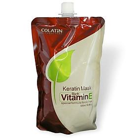 Kem ủ tóc siêu mượt Colatin Keratin Mask Vitamin E 500ml