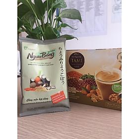 Mua 1 Hộp Bột Ngũ Cốc Nảy Mầm Vegan TAMI 450g ( Hộp 25 gói x 18g/gói ) – Tặng 1 Bột nêm Ngưu Báng 60 gram không bột ngọt
