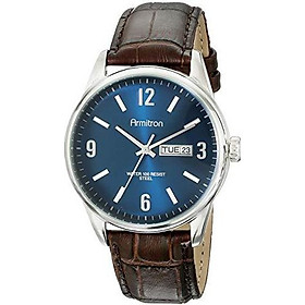 Armitron Men's 20/5048BNTRBN Day/Date Function Brown Croco-Grain Leather Strap Watch