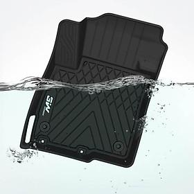 Thảm lót sàn xe ô tô dành cho Mitsubishi Outlander 2012- đến nay nhãn hiệu Macsim 3W - chất liệu nhựa TPE đúc khuôn cao cấp - màu đen