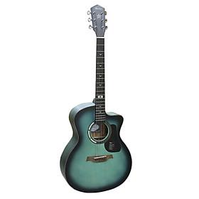 Đàn Guitar Acoustic GT-1GCGR Xanh Viền Đen Dáng A Chất Lượng Tốt