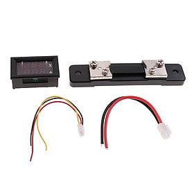 Dual LED Digital Voltmeter Ammeter Current Volt Meter Gauge Tester 0-50A