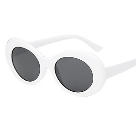 Vintage Oval Round Sunglasses Men Women UV400 Shades Mirrored Glasses Lens