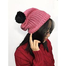 Mũ len nữ, mũ len trùm đầu H02