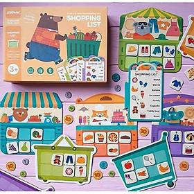 Shopping List - bộ trò chơi học cách đi chợ mua sắm và tiêu tiền cho bé từ 3 tuổi trở lên