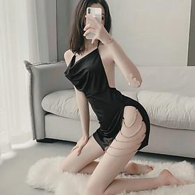 Váy ngủ sexy xẻ hông dây đá quyến rũ gợi cảm