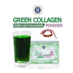 Thực Phẩm Bảo Vệ Sức Khỏe Diệp lục Collagen (Green Collagen Powder) + Tặng kèm Vòng Phong Thủy - đẹp da, chống lão hóa, cân bằng nội tiết