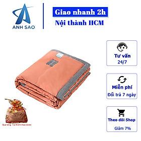 Chăn hè cotton đũi Home cao cấp A siêu mềm thoáng viền ROMA ( hàng loại 1) kích thước 2m x 2m3 + tặng kèm túi thơm thảo dược