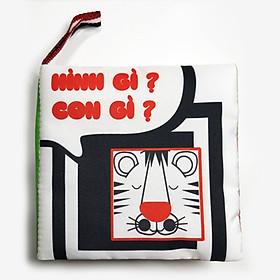 Sách vải song ngữ kích thích thị giác - Chủ đề hình khối và con vật ( PiPô Việt Nam )