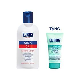 Sữa tắm cho da khô EUBOS bổ sung 5% urea 200ml tặng kem dưỡng da tay EUBOS 25ml
